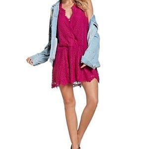 Free People Women's Heart In Two Lace Mini Dress
